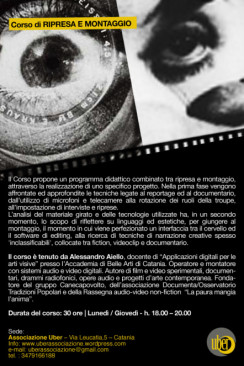 Corso 'Rec and Cut' – Ripresa e montaggio audio-video