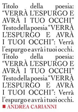 'Verrà l'espurgo e avrà i tuoi occhi' di Andrea Carianni